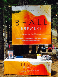 The Beall Brewery Insurance booth at the 20th Annual Mammoth Festival of Beers and Bluesapalooza.